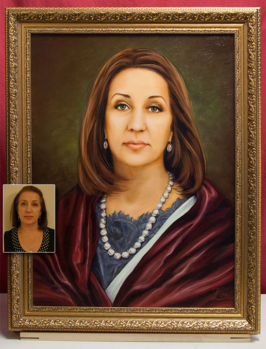 портрет с фотографии на заказ красноярск