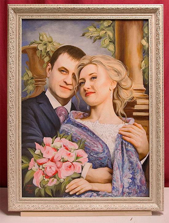 Картина подарок на свадьбу 82